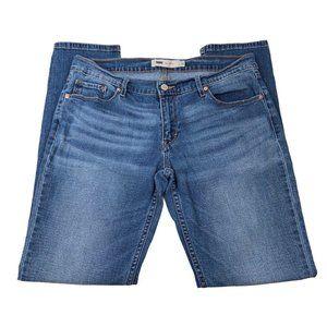 Levis 524 Womens Skinny Leg Blue Jeans Size 13